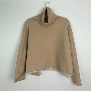 Oak + Fort Camel Cozy Cropped Sweatshirt OS
